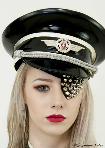 Studded latex eye patch